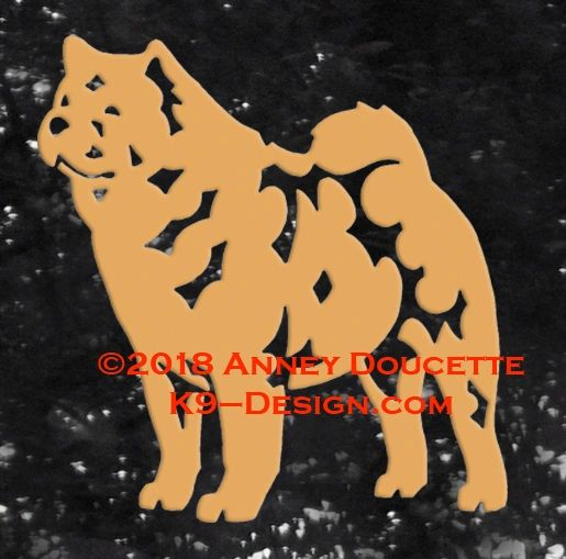 Smooth Chow Chow Standing Decal - Choose Color