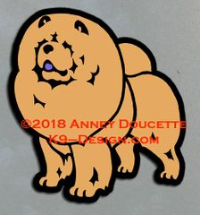 Rough Chow Chow Standing Magnet - Choose Color