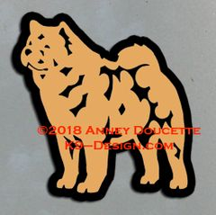 Smooth Chow Chow Standing Magnet - Choose Color