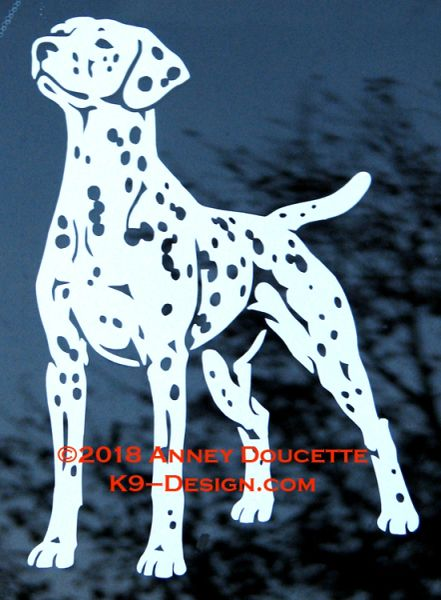 Dalmatian Stand Front Decal