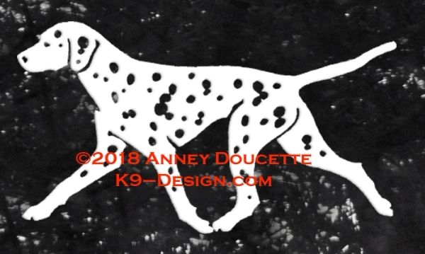 Dalmatian Trotting Decal