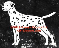 Dalmatian Stacked Decal