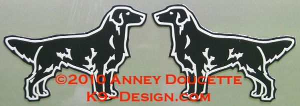 Flat-Coated Retriever Standing Magnet - Black or Liver