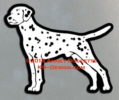 Dalmatian Stacked Magnet - Choose Color