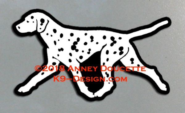 Dalmatian Trotting Magnet - Choose Color