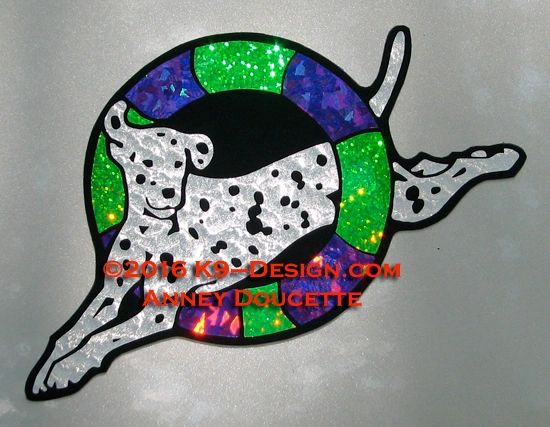 Dalmatian Agility Tire Magnet - Choose Colors