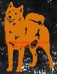 Finnish Spitz Standing Front Decal