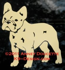 French Bulldog Standing Decal - Choose Color