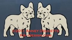 French Bulldog Standing Magnet - Choose Color