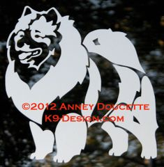 Keeshond Standing Decal