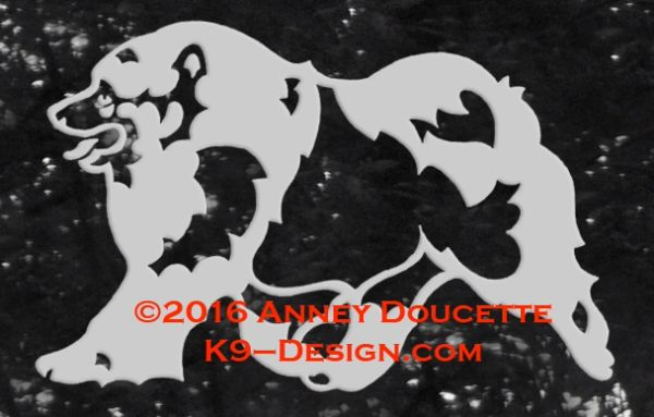 Keeshond Trotting Decal