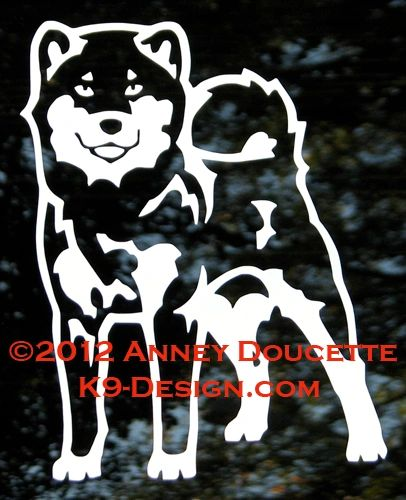 Shiba Inu Stand Front Decal - Choose Color