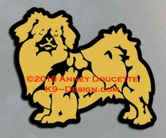 Tibetan Spaniel Standing Magnet - Choose Color