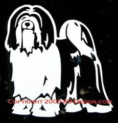 Tibetan Terrier Standing Decal