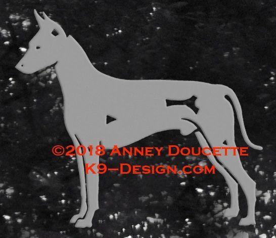 Xoloitzcuintli Standing Decal - Choose Color
