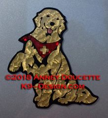 Golden Retriever Service Dog or Therapy Dog Sitting Magnet