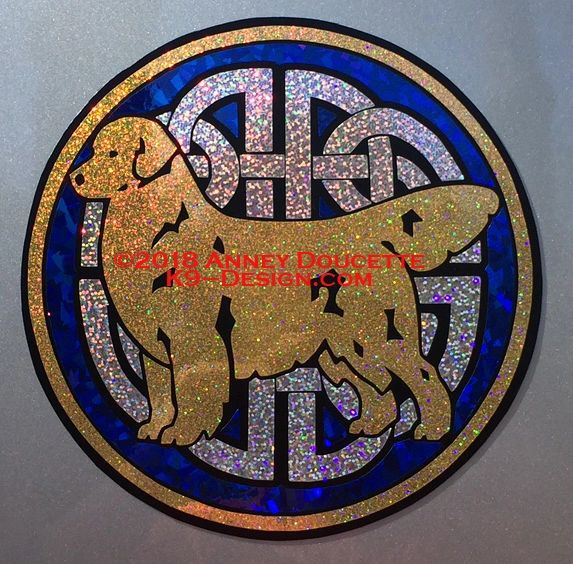 "Golden Retriever ""Celtic Knot"" Large Magnet - Choose Colors"