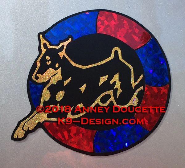 Doberman Pinscher Agility Tire Magnet - Choose Colors
