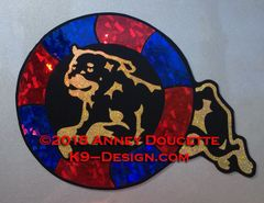 Rottweiler Agility Tire Magnet - Choose Colors