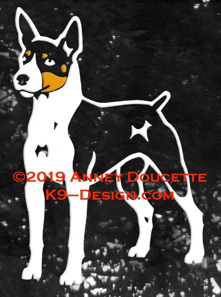 Rat Terrier Standing Front Decal