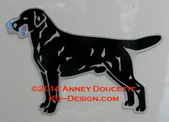 Labrador Retriever Standing with Obedience Dumbbell Magnet - Choose Color