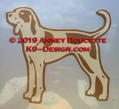 American English Coonhound Standing Magnet