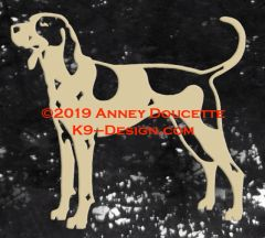 American English Coonhound Standing Decal