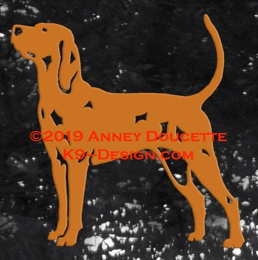 Redbone Coonhound Stacked Decal