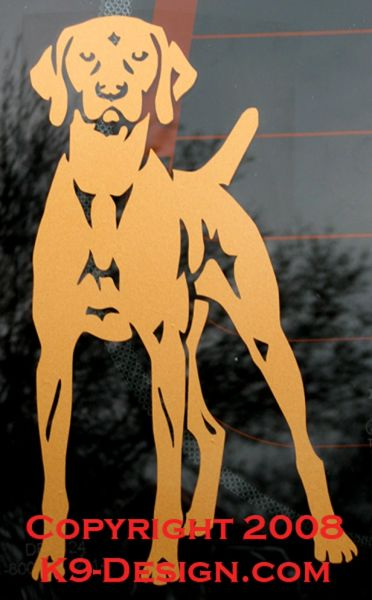 Vizsla Standing Front Decal