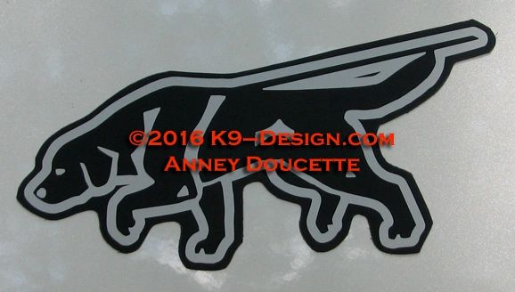 Labrador Retriever Tracking Magnet - Choose Color