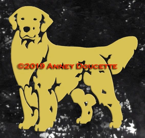 Golden Retriever Stand Front Decal