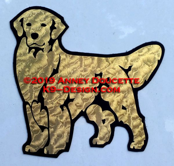Golden Retriever Stand Front Magnet