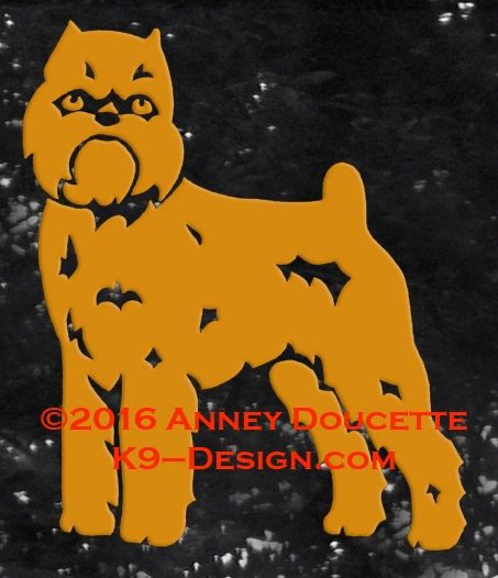 Brussels Griffon - Rough Coat - Standing Decal - Choose Color