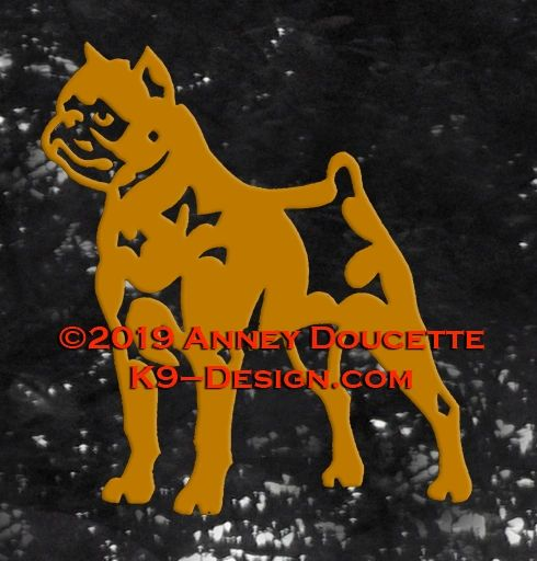 Brussels Griffon - Smooth Coat - Standing Decal - Choose Color
