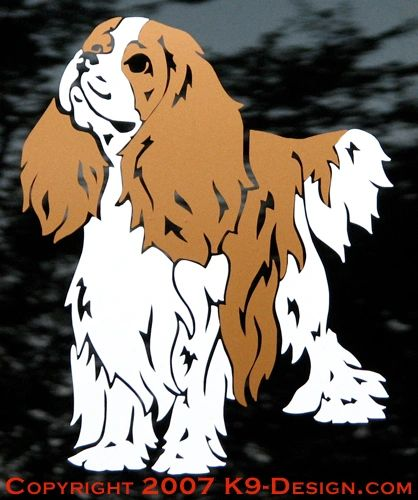 Cavalier King Charles Spaniel Standing Decal - Choose Color