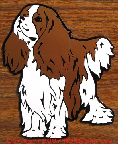 Cavalier King Charles Spaniel Standing Magnet - Choose Color