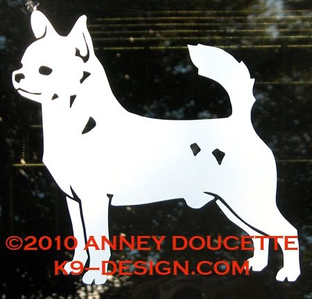Chihuahua Smooth Coat Standing Decal - Choose Color
