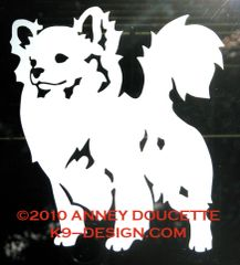 Chihuahua Long Coat Standing Decal - Choose Color