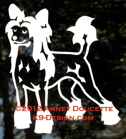 Chinese Crested Hairless Standing Decal