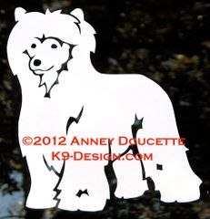 Chinese Crested Powderpuff Standing Decal