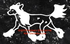 Chinese Crested Hairless Trotting Decal