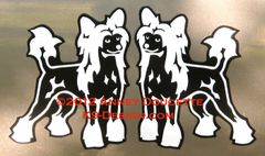 Chinese Crested Hairless Standing Magnet
