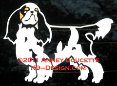 English Toy Spaniel Standing Decal - Choose Options
