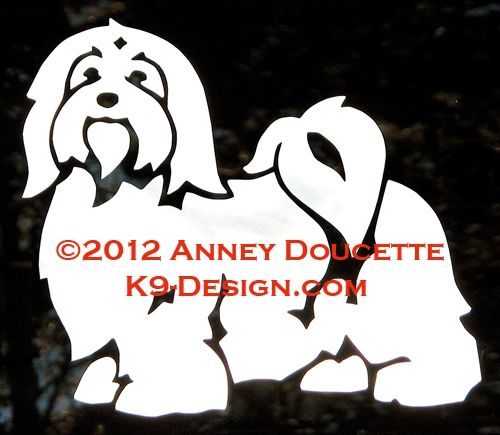 Havanese Standing 2012 Decal - Choose Color