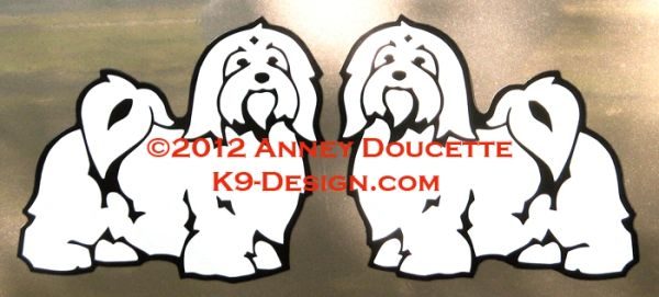 Havanese Standing 2012 Magnet - Choose Color