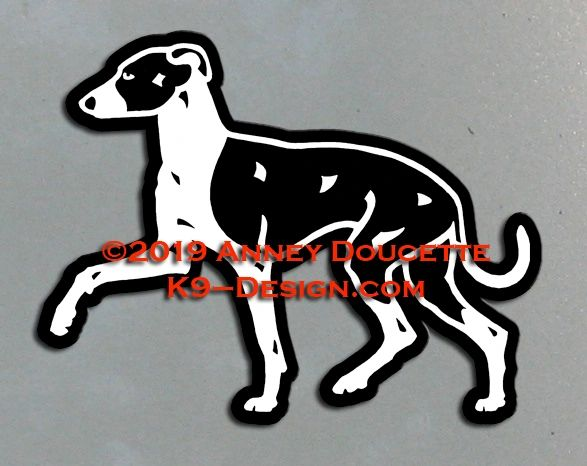 Italian Greyhound Trotting Magnet - Choose Color