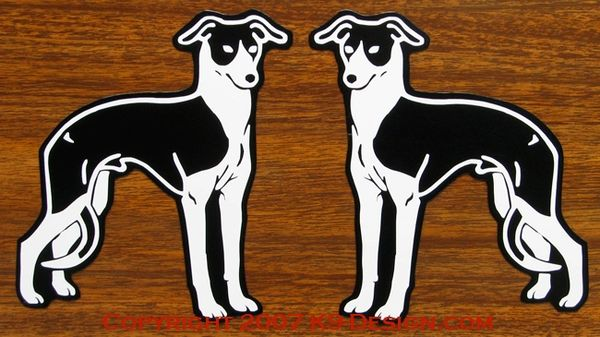 Italian Greyhound Standing Magnet - Choose Color