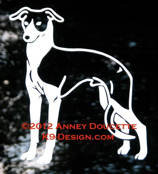 Italian Greyhound Standing Decal