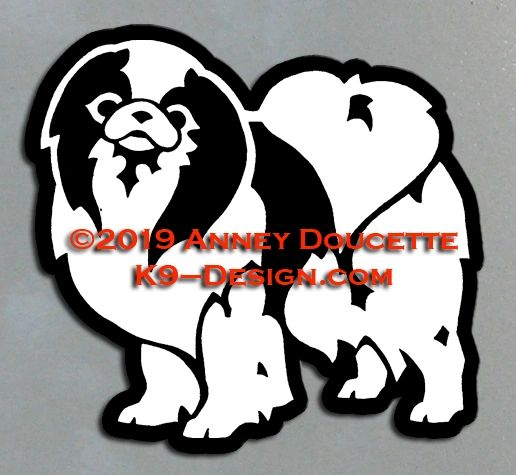 Japanese Chin Standing Magnet - Choose Color