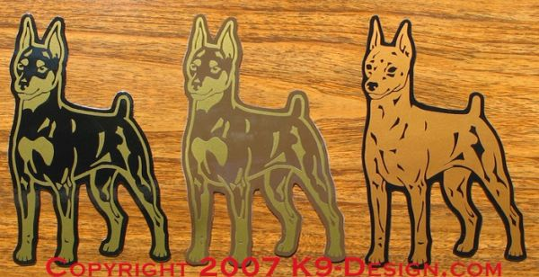Miniature Pinscher Standing Magnet - Choose Color